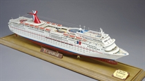 A fine scale model of Carnival Cruise Lines SS Fantasy