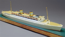 A Travel Agent's model of the SS NIEUW AMSTERDAM