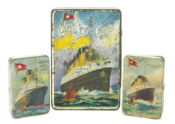 A cigarette tin featuring the