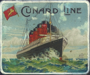 A cigarette tin for the Cunard