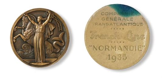A bronze maiden voyage medalli