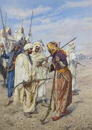 Bedouins preparing a raiding p