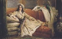 A reclining Turkish beauty