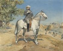 A horseman by a Jerusalem Gate