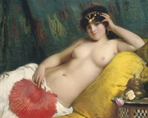 An odalisque with a red fan