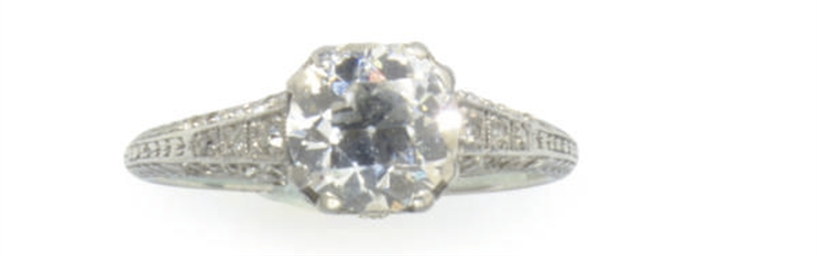 A BELLE EPOQUE DIAMOND AND PLA
