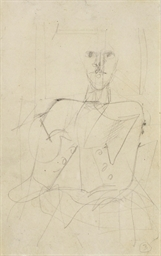 Untitled (Seated male figure)