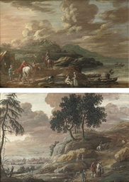 A coastal landscape with horse