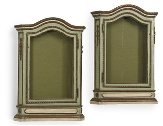 A PAIR OF ITALIAN GREEN-PAINTE