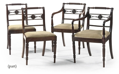 A SET OF SIX ENGLISH DINING CH