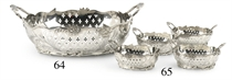 A SET OF FOUR DUTCH SILVER BASKETS