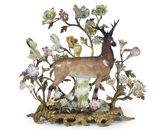 AN ORMOLU-MOUNTED MEISSEN MODE
