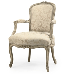 A LOUIS XV WHITE-PAINTED FAUTE
