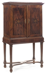 A GERMAN FIGURED-WALNUT, BURR