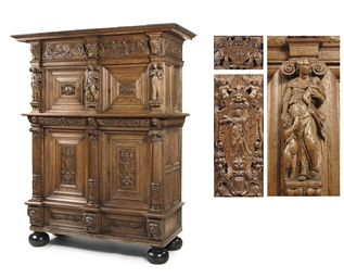 A DUTCH OAK CUPBOARD 'BEELDENK