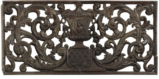 A DUTCH PIERCED AND CARVED OAK