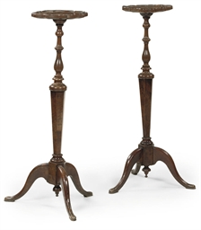 A PAIR OF DUTCH WALNUT TORCHER