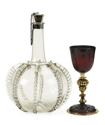 A NETHERLANDISH SILVER-MOUNTED