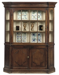 A DUTCH PINE AND OAK DISPLAY C