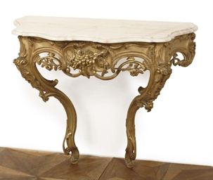 A NORTH EUROPEAN GILTWOOD CONS