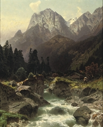 Along a Alpine river