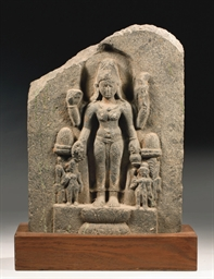 An Indian stone stele depictin
