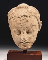 A Gandhara stucco head of Budd
