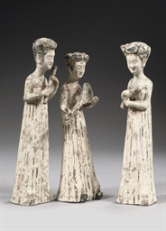 Three Chinese pottery figures