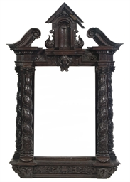 A FLEMISH CARVED WOOD TABERNAC