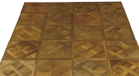 A GERMAN OAK PARQUET FLOOR