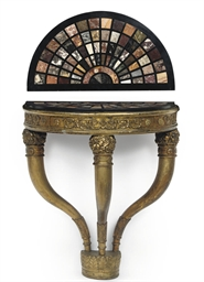 AN ITALIAN GILT-WOOD AND SPECI