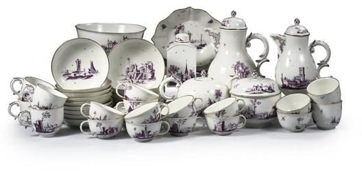 A Höchst porcelain Purpurmaler