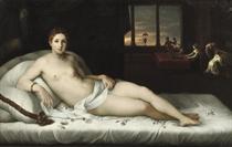 Venus reclining in an interior