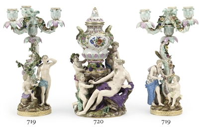 A MEISSEN MYTHOLOGICAL FIGURAL