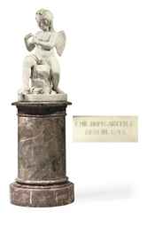 A GERMAN CARRARA MARBLE FIGURE