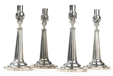 A SET OF FOUR GERMAN SILVER PL