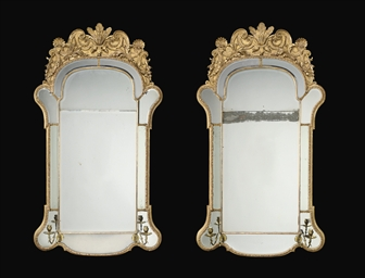 A PAIR OF GEORGE II GILT-GESSO