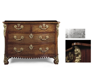 AN EARLY GEORGE III MAHOGANY C