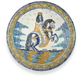 A LONDON DELFT POLYCHROME LARG