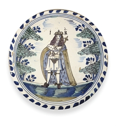A LONDON DELFT POLYCHROME BLUE