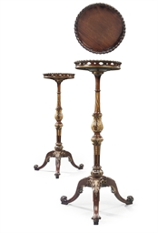 A PAIR OF GEORGE II MAHOGANY A