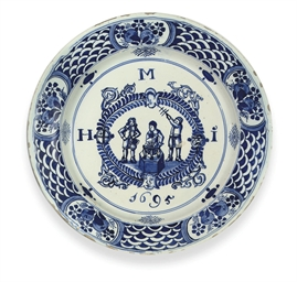 A LONDON DELFT DATED ARMORIAL