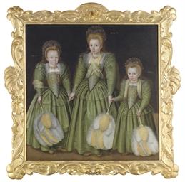 Triple portrait of three girls