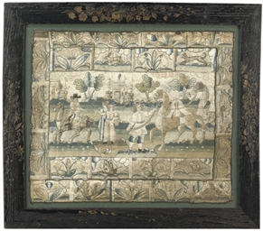 A CHARLES II CASKET PANEL