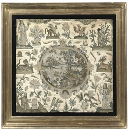 A CHARLES I PETIT-POINT PICTUR