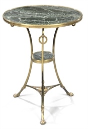 A FRENCH ORMOLU GUERIDON