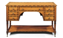 A REGENCY SATINWOOD AND CALAMANDER DRESSING-TABLE