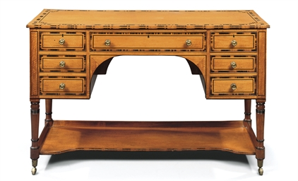 A REGENCY SATINWOOD AND CALAMA
