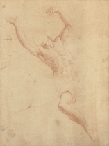 A reclining nude: Study for the Pietà