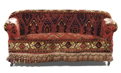 A VICTORIAN UPHOLSTERED SOFA